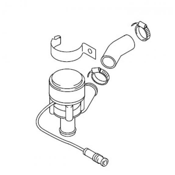 Циркуляционный насос U4847 24V. С крепежом для Thermo 50 Webasto