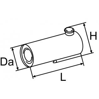 Топливный бачок 25 литров ; Da = 235; L = 600; H = 312