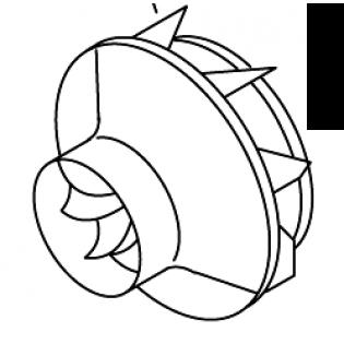 Вентилятор подачи воздуха для горения
